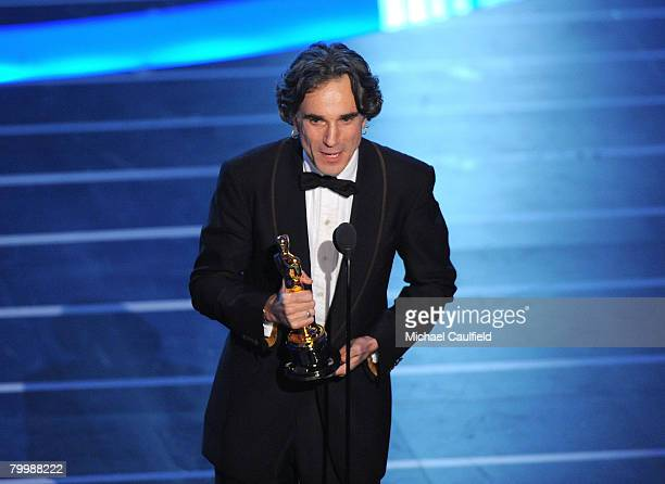 Actor Daniel DayLewis onstage during the 80th Annual Academy Awards at the Kodak Theatre on February 24 2008 in Los Angeles California