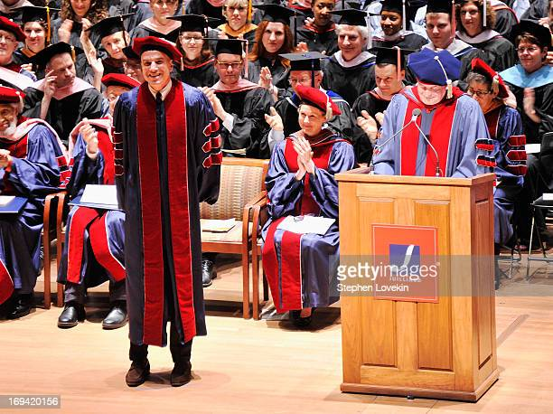 Actor Daniel DayLewis receives an honorary doctorate at Juilliard's 108th Commencement Ceremony at Lincoln Center on May 24 2013 in New York City