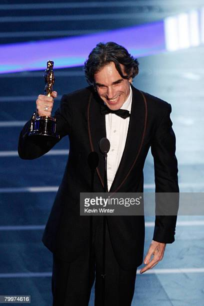 TELECAST*** Actor Daniel DayLewis receives the award for Best Actor in a Leading Role for his performance in 'There Will Be Blood' during the 80th...