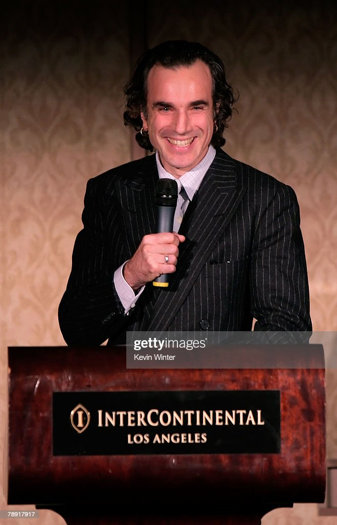 Actor <a gi-track='captionPersonalityLinkClicked' href=/galleries/search?phrase=Daniel+Day-Lewis&family=editorial&specificpeople=211475 ng-click='$event.stopPropagation()'>Daniel Day-Lewis</a> winner of the LA Film Critic's Actor Award for 'There Will Be Blood' speaks at the 2007 LA Film Critic's Choice Awards held at the InterContinental on January 12, 2008 in Los Angeles, California.