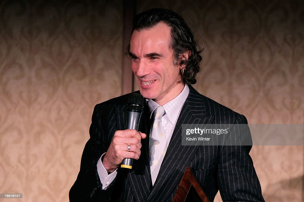 Actor Daniel Day-Lewis winner of the LA Film Critic's Actor Award for 'There Will Be Blood' speaks at the 2007 LA Film Critic's Choice Awards held at the InterContinental on January 12, 2008 in Los Angeles, California.