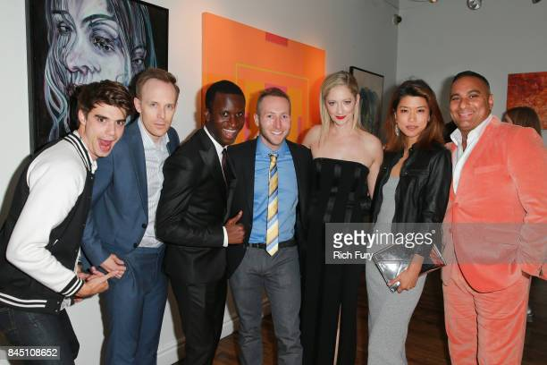 Actor Daniel Doheny director Kyle Rideout actors Alex Barima Josh Epstein Judy Greer Grace Park and Russell Peters attend the 'Public Schooled'...