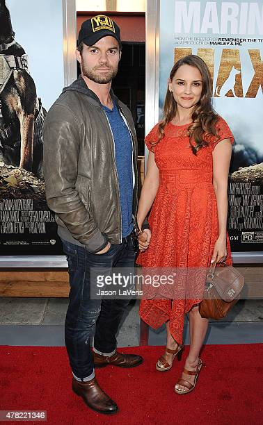 Actor Daniel Gillies and actress Rachael Leigh Cook attend the premiere of 'MAX' at the Egyptian Theatre on June 23 2015 in Hollywood California