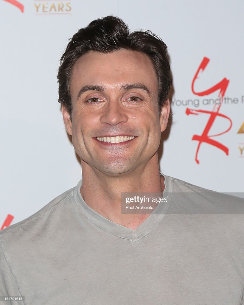 Actor Daniel Goddard attends 'The Young & The Restless' 40th anniversary cake cutting ceremony at CBS Television City on March 26, 2013 in Los Angeles, California.