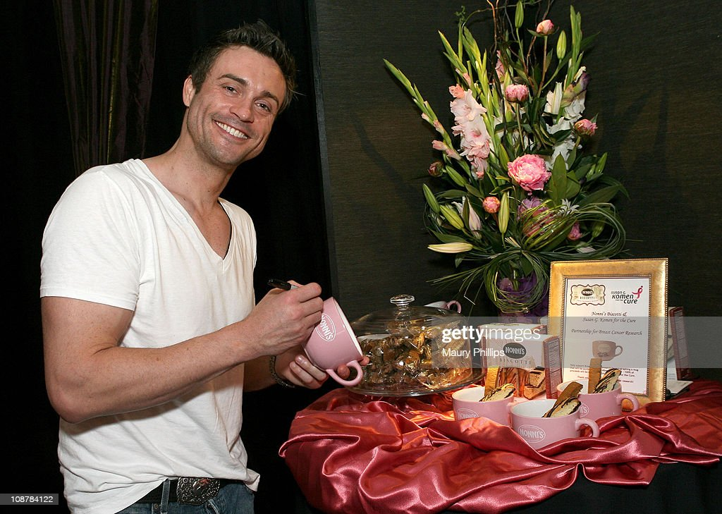 Actor Daniel Goddard poses in the Daytime Emmy official gift lounge produced by On 3 Productions held at the Kodak Theatre on June 19, 2008 in Hollywood, California.