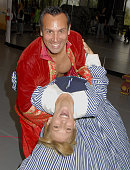 Actor Daniel Guzman and Actress/Singer Deborah Gibson rehearses for production of 'The King and I' at Hillcrest Center for the Arts on October 4 2008...
