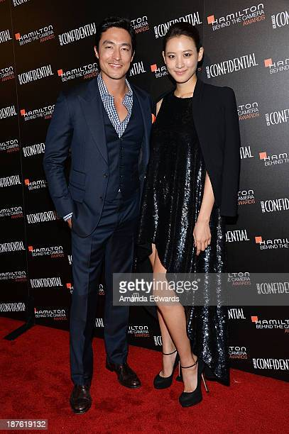 Actor Daniel Henney and actress Claudia Kim arrive at the 7th Annual Hamilton Behind The Camera Awards at The Wilshire Ebell Theatre on November 10...