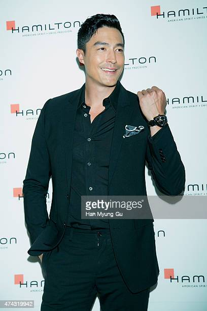 Actor Daniel Henney attends the 'Hamilton Watch' opening at Hyundai Department Store on May 21 2015 in Seoul South Korea