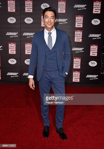 Actor Daniel Henney attends the premiere of Disney's 'Big Hero 6' at the El Capitan Theatre on November 4 2014 in Hollywood California