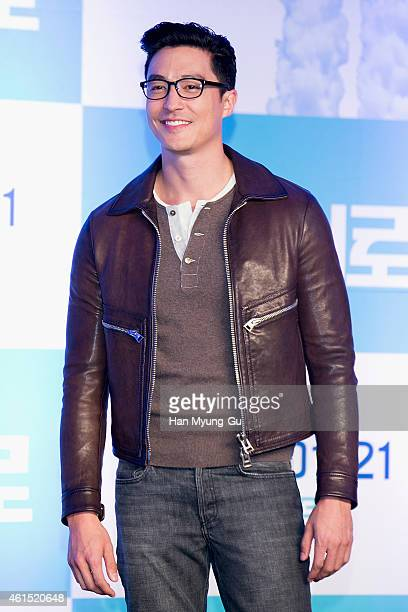 Actor Daniel Henney attends the press conference for Disney 'Big Hero 6' at Conrad Hotel on January 14 2015 in Seoul South Korea The film will open...
