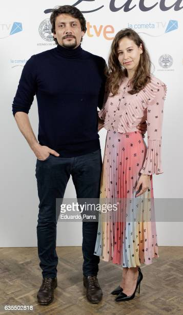 Actor Daniel Holguin and actress Irene Escolar attend the 'La Princesa Paca' photocall at Ateneo on February 15 2017 in Madrid Spain
