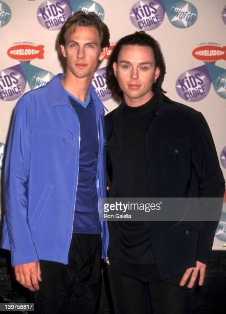 Actor Daniel Jones and Darren Hayes of Savage Garden attend 10th Annual Nickelodeon Kids Choice Awards on April 19 1997 at the Olympic Theater in Los...