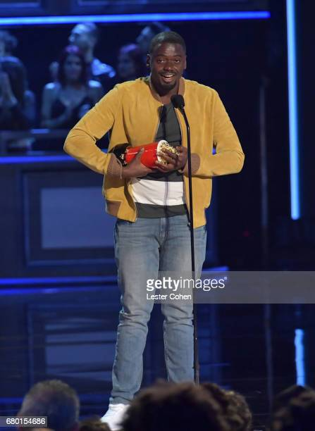 Actor Daniel Kaluuya speaks onstage during the 2017 MTV Movie And TV Awards at The Shrine Auditorium on May 7 2017 in Los Angeles California