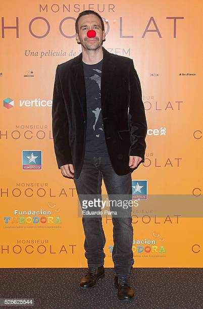 Actor Daniel Ortiz attends 'Monsieur Chocolat' premiere at Kinepolis cinema on April 28 2016 in Madrid Spain