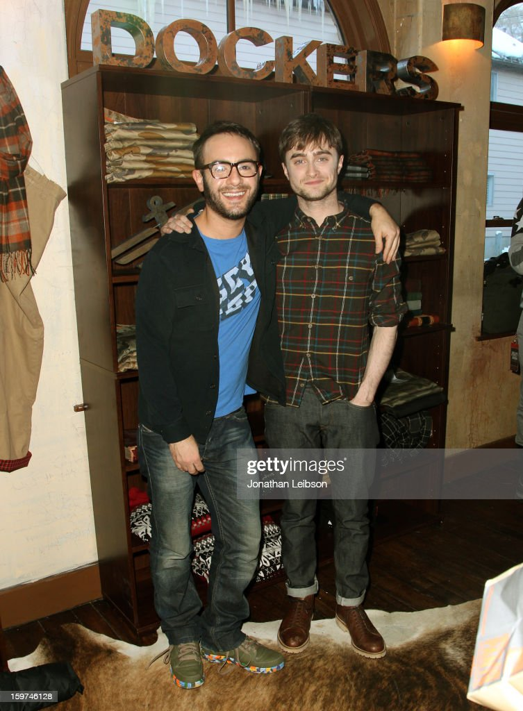 Actor Daniel Radcliffe (R) and director John Krokidas attend Day 1 of the Variety Studio at 2013 Sundance Film Festival on January 19, 2013 in Park City, Utah.