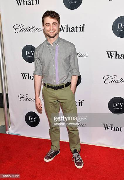 Actor Daniel Radcliffe arrives at Ivyconnect's Inaugural Ivy Innovator Film Awards Honoring Daniel Radcliffe at the Landmark Theatre on August 6 2014...