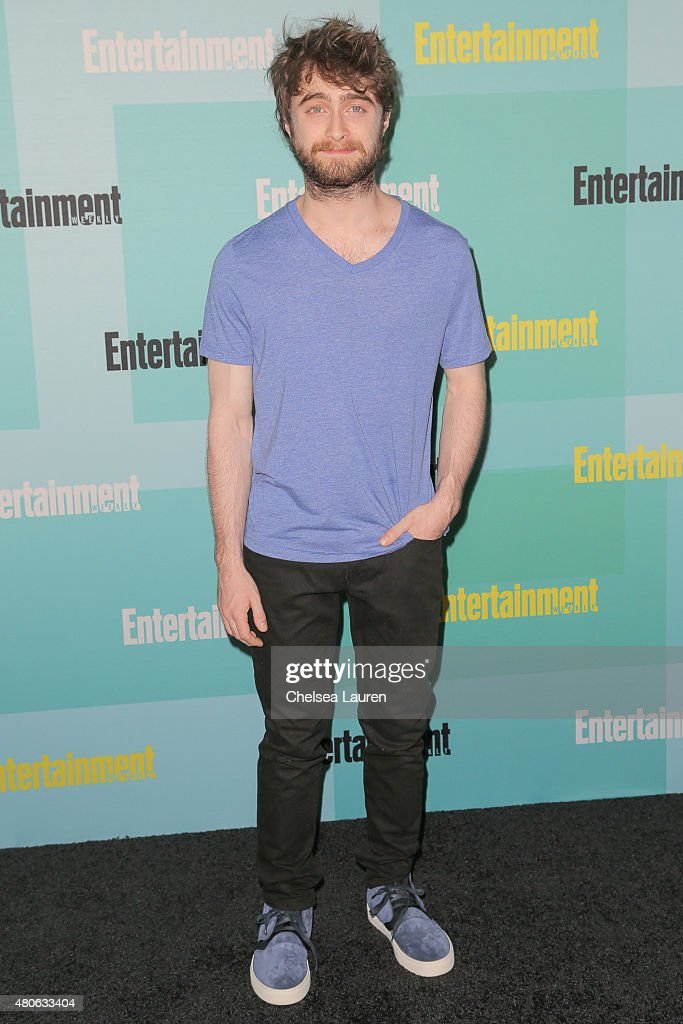 Actor <a gi-track='captionPersonalityLinkClicked' href=/galleries/search?phrase=Daniel+Radcliffe&family=editorial&specificpeople=204144 ng-click='$event.stopPropagation()'>Daniel Radcliffe</a> arrives at the Entertainment Weekly celebration at Float at Hard Rock Hotel San Diego on July 11, 2015 in San Diego, California.