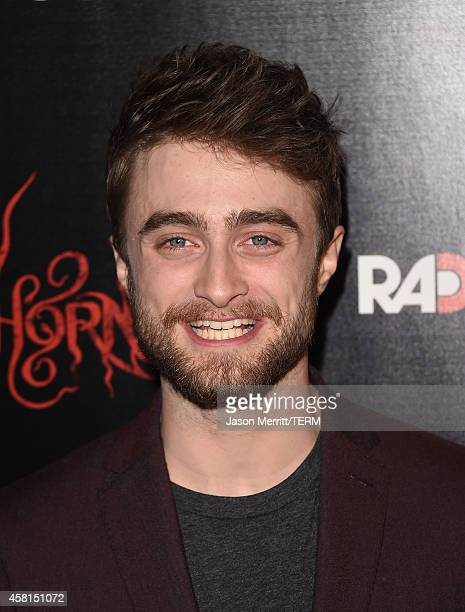 Actor Daniel Radcliffe arrives at the Los Angeles premiere of RADiUSTWC's 'Horns' at ArcLight Hollywood on October 30 2014 in Hollywood California