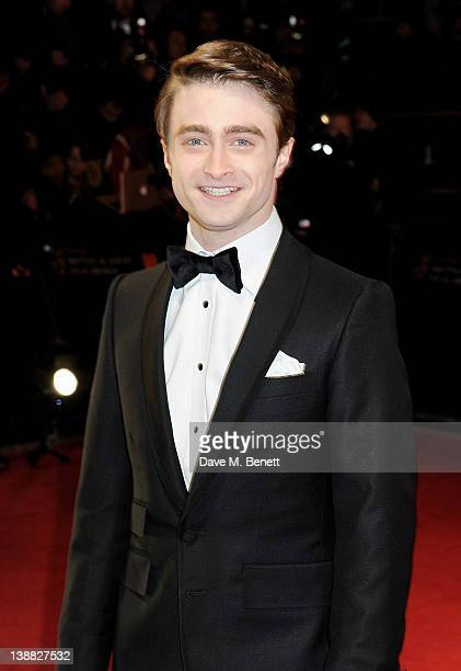 Actor Daniel Radcliffe arrives at the Orange British Academy Film Awards 2012 at The Royal Opera House on February 12 2012 in London England