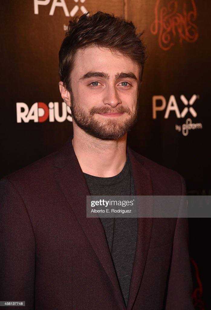 Actor <a gi-track='captionPersonalityLinkClicked' href=/galleries/search?phrase=Daniel+Radcliffe&family=editorial&specificpeople=204144 ng-click='$event.stopPropagation()'>Daniel Radcliffe</a> arrives for the Los Angeles premiere of RADiUS-TWC's 'Horns' at ArcLight Hollywood on October 30, 2014 in Hollywood, California.