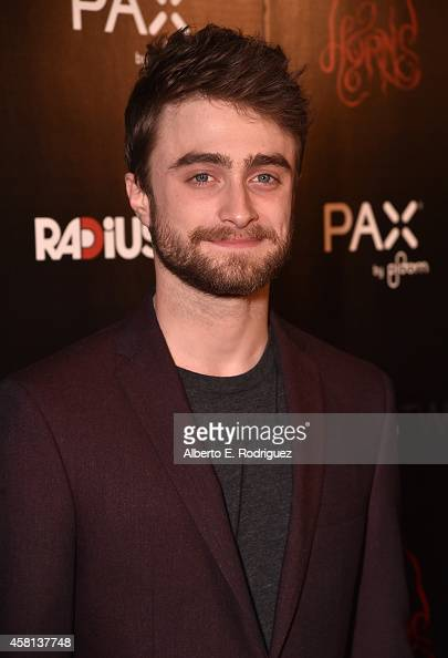 Actor Daniel Radcliffe arrives for the Los Angeles premiere of RADiUSTWC's 'Horns' at ArcLight Hollywood on October 30 2014 in Hollywood California