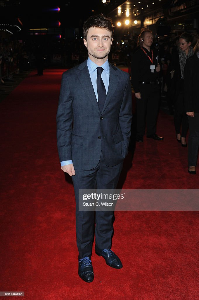 Actor <a gi-track='captionPersonalityLinkClicked' href=/galleries/search?phrase=Daniel+Radcliffe&family=editorial&specificpeople=204144 ng-click='$event.stopPropagation()'>Daniel Radcliffe</a> attends a screening of 'Kill Your Darlings' during the 57th BFI London Film Festival at Odeon West End on October 17, 2013 in London, England.