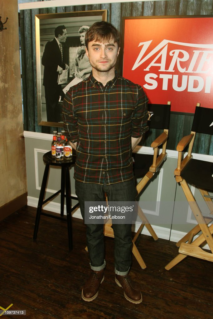 Actor <a gi-track='captionPersonalityLinkClicked' href=/galleries/search?phrase=Daniel+Radcliffe&family=editorial&specificpeople=204144 ng-click='$event.stopPropagation()'>Daniel Radcliffe</a> attends Day 1 of the Variety Studio at 2013 Sundance Film Festival on January 19, 2013 in Park City, Utah.