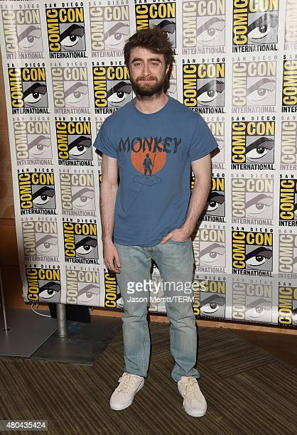 Actor Daniel Radcliffe attends the 20th Century Fox press room during ComicCon International 2015 at the Hilton Bayfront on July 11 2015 in San Diego...