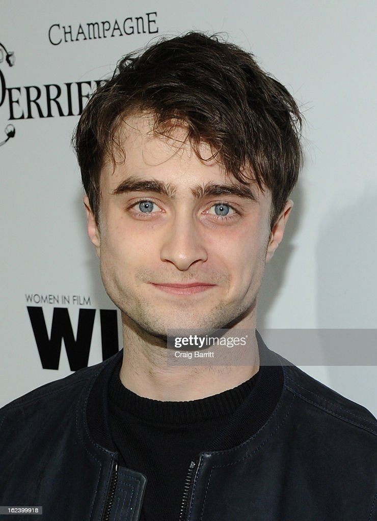 Actor <a gi-track='captionPersonalityLinkClicked' href=/galleries/search?phrase=Daniel+Radcliffe&family=editorial&specificpeople=204144 ng-click='$event.stopPropagation()'>Daniel Radcliffe</a> attends the 6th Annual Women In Film Pre-Oscar Party hosted by Perrier Jouet, MAC Cosmetics and MaxMara at Fig & Olive on February 22, 2013 in Los Angeles, California.