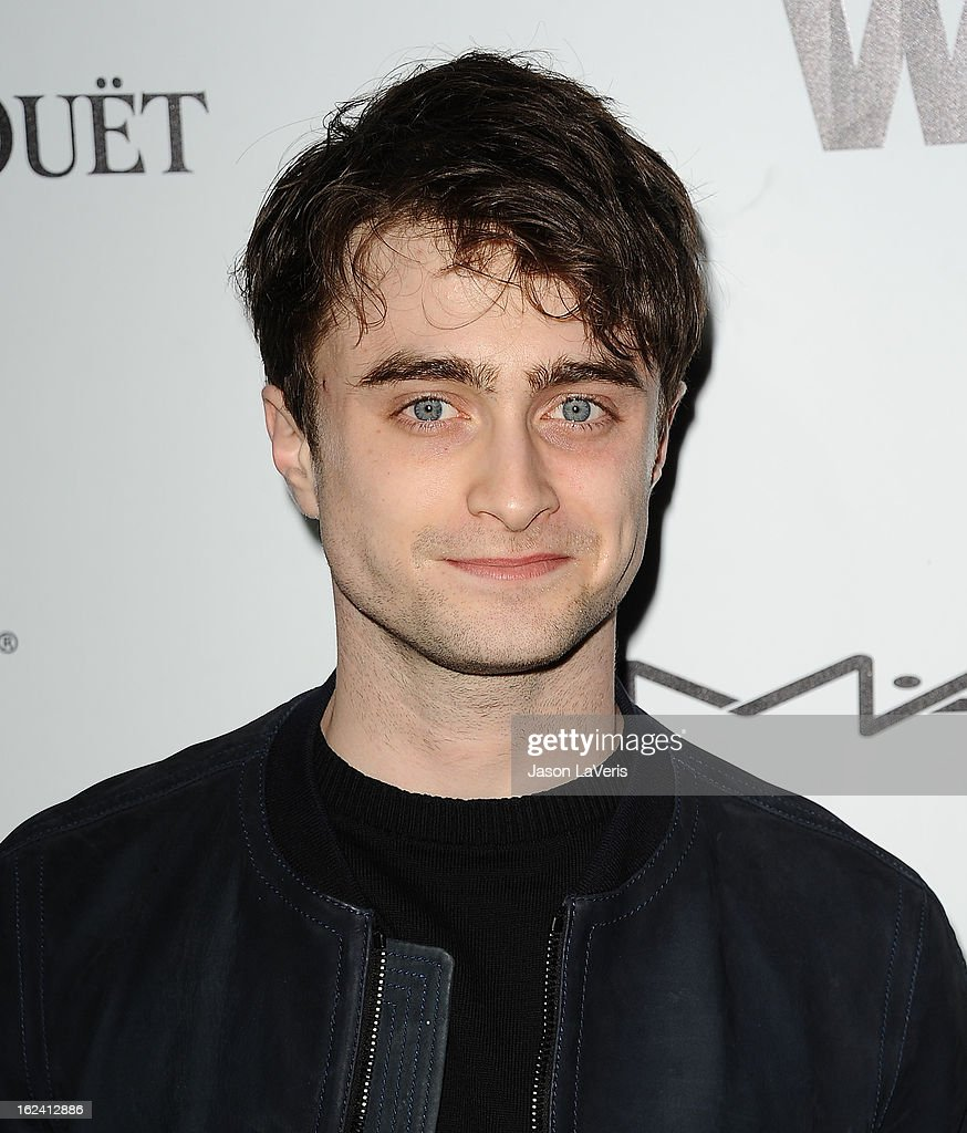 Actor <a gi-track='captionPersonalityLinkClicked' href=/galleries/search?phrase=Daniel+Radcliffe&family=editorial&specificpeople=204144 ng-click='$event.stopPropagation()'>Daniel Radcliffe</a> attends the 6th annual Women In Film pre-Oscar cocktail party at Fig & Olive Melrose Place on February 22, 2013 in West Hollywood, California.