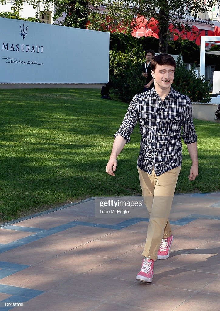 Actor <a gi-track='captionPersonalityLinkClicked' href=/galleries/search?phrase=Daniel+Radcliffe&family=editorial&specificpeople=204144 ng-click='$event.stopPropagation()'>Daniel Radcliffe</a> attends the 70th Venice International Film Festival at Terrazza Maserati on August 31, 2013 in Venice, Italy.