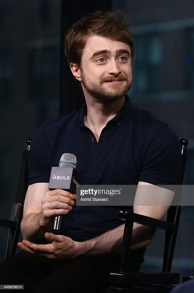 Actor <a gi-track='captionPersonalityLinkClicked' href=/galleries/search?phrase=Daniel+Radcliffe&family=editorial&specificpeople=204144 ng-click='$event.stopPropagation()'>Daniel Radcliffe</a> attends the AOL Build Presents series to discuss the movie 'Swiss Army Man' at AOL Studios In New York on June 27, 2016 in New York City.