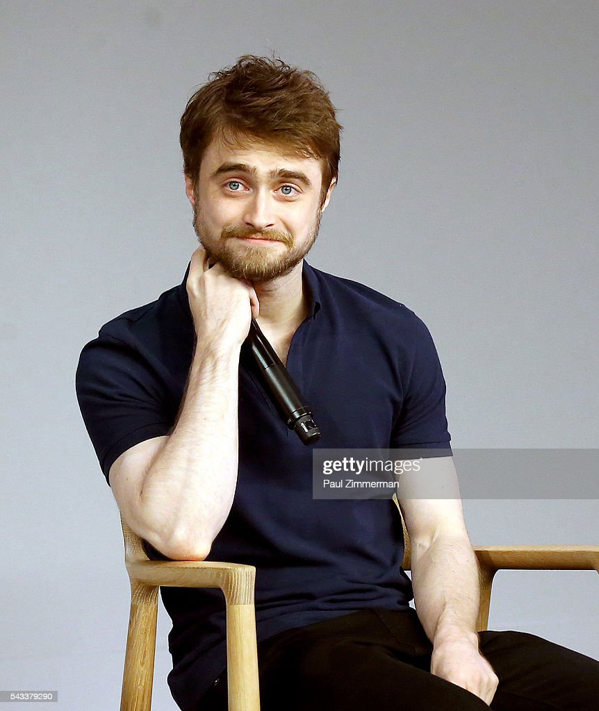 Actor <a gi-track='captionPersonalityLinkClicked' href=/galleries/search?phrase=Daniel+Radcliffe&family=editorial&specificpeople=204144 ng-click='$event.stopPropagation()'>Daniel Radcliffe</a> attends The Apple Store Presents: <a gi-track='captionPersonalityLinkClicked' href=/galleries/search?phrase=Daniel+Radcliffe&family=editorial&specificpeople=204144 ng-click='$event.stopPropagation()'>Daniel Radcliffe</a> And Paul Dano, 'Swiss Army Man' at Apple Store Soho on June 27, 2016 in New York City.