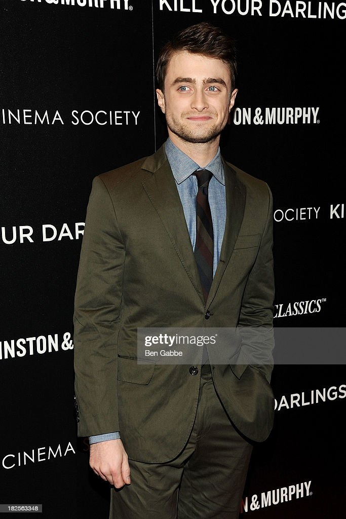 Actor <a gi-track='captionPersonalityLinkClicked' href=/galleries/search?phrase=Daniel+Radcliffe&family=editorial&specificpeople=204144 ng-click='$event.stopPropagation()'>Daniel Radcliffe</a> attends The Cinema Society and Johnston & Murphy host a screening of Sony Pictures Classics' 'Kill Your Darlings' at the Paris Theatre on September 30, 2013 in New York City.