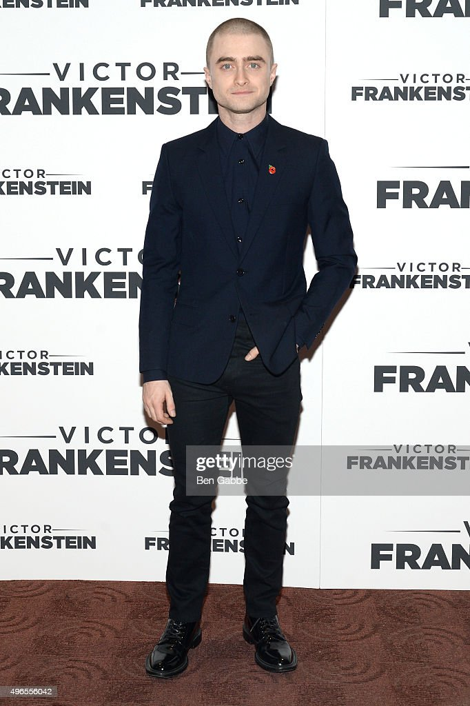 Actor <a gi-track='captionPersonalityLinkClicked' href=/galleries/search?phrase=Daniel+Radcliffe&family=editorial&specificpeople=204144 ng-click='$event.stopPropagation()'>Daniel Radcliffe</a> attends the New York Premiere of 'Victor Frankenstein' at Chelsea Bow Tie Cinemas on November 10, 2015 in New York City.