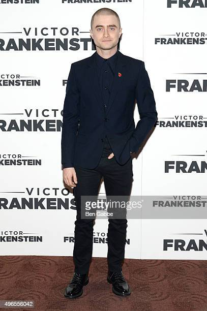 Actor Daniel Radcliffe attends the New York Premiere of 'Victor Frankenstein' at Chelsea Bow Tie Cinemas on November 10 2015 in New York City