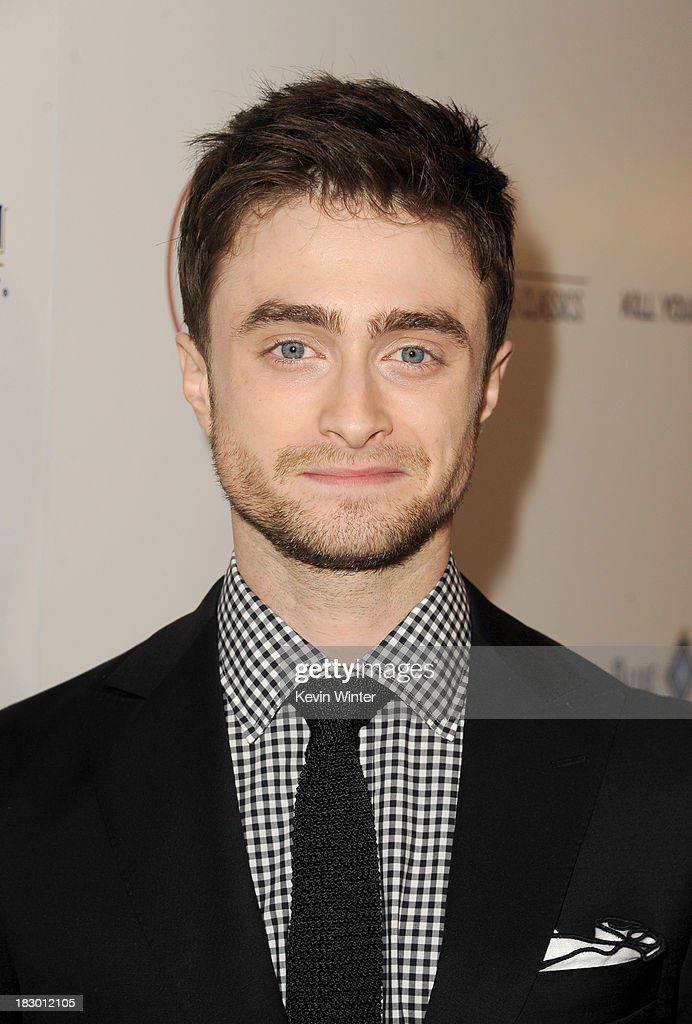 Actor <a gi-track='captionPersonalityLinkClicked' href=/galleries/search?phrase=Daniel+Radcliffe&family=editorial&specificpeople=204144 ng-click='$event.stopPropagation()'>Daniel Radcliffe</a> attends the premiere of Sony Pictures Classics' 'Kill Your Darlings' at Writers Guild Theater on October 3, 2013 in Beverly Hills, California.