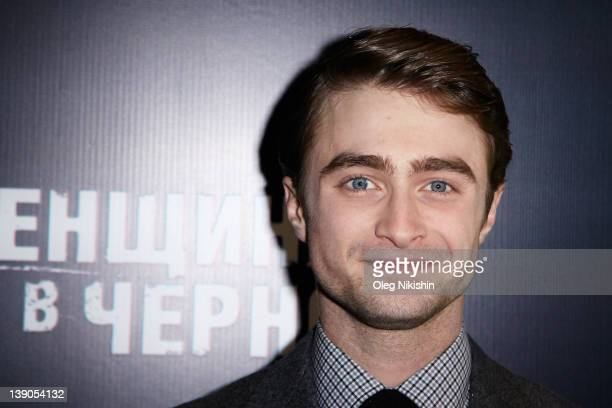 Actor Daniel Radcliffe attends the premiere of Woman in Black in Oktyabr Cinema on February 15 2012 in Moscow Russia