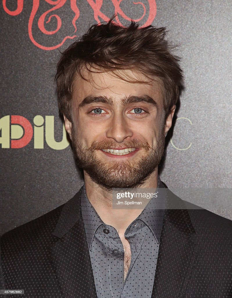 Actor <a gi-track='captionPersonalityLinkClicked' href=/galleries/search?phrase=Daniel+Radcliffe&family=editorial&specificpeople=204144 ng-click='$event.stopPropagation()'>Daniel Radcliffe</a> attends the RADiUS TWC and The Cinema Society New York Premiere of 'Horns' at Landmark's Sunshine Cinema on October 27, 2014 in New York City.