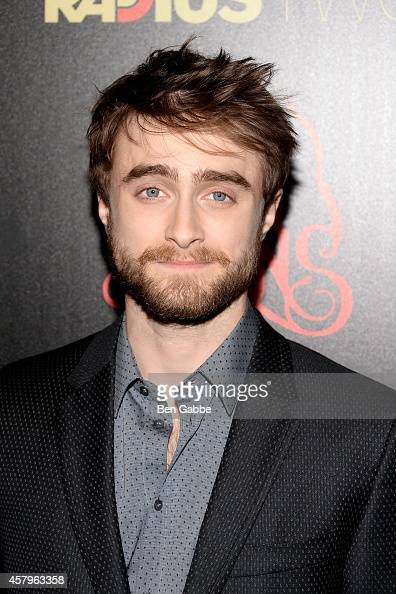 Actor Daniel Radcliffe attends the RADiUS TWC and The Cinema Society New York Premiere of 'Horns' at Landmark's Sunshine Cinema on October 27 2014 in...