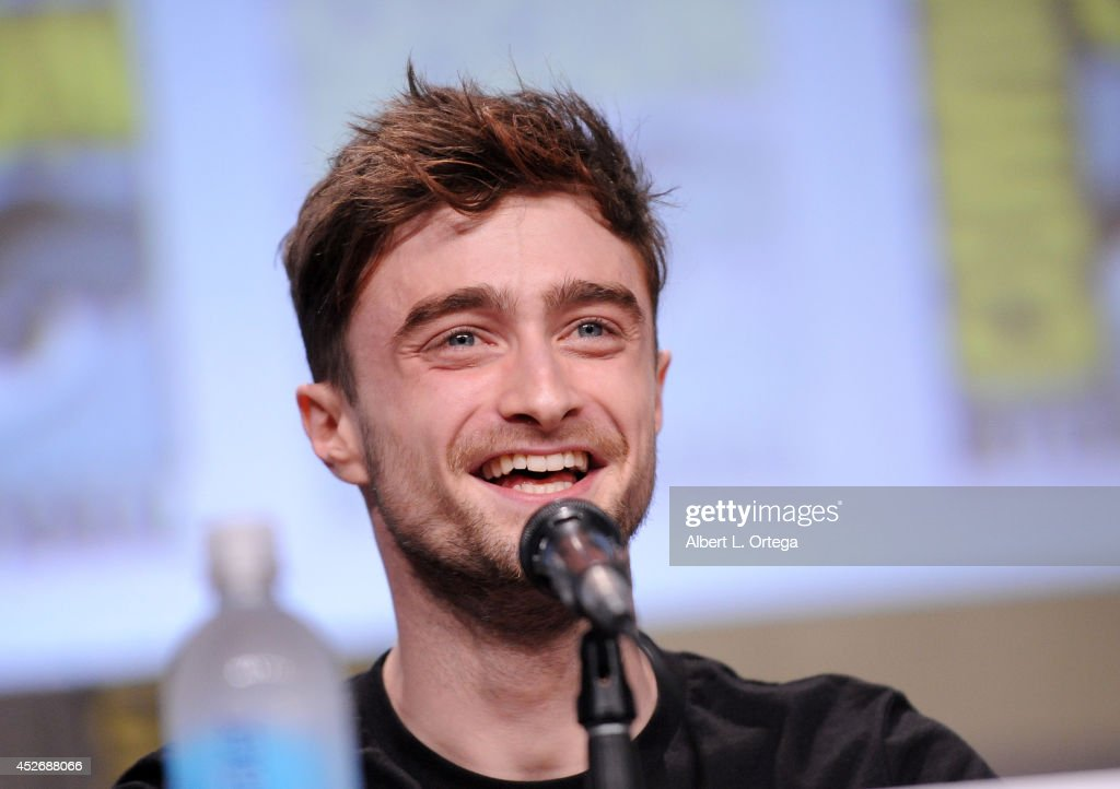Actor <a gi-track='captionPersonalityLinkClicked' href=/galleries/search?phrase=Daniel+Radcliffe&family=editorial&specificpeople=204144 ng-click='$event.stopPropagation()'>Daniel Radcliffe</a> attends the Sony Pictures presentation during Comic-Con International 2014 at San Diego Convention Center on July 25, 2014 in San Diego, California.