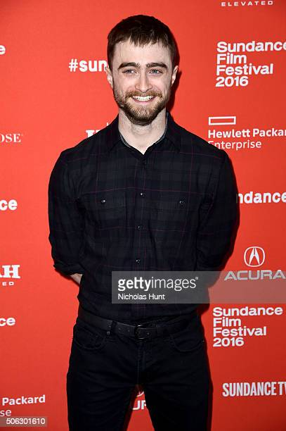 Actor Daniel Radcliffe attends the 'Swiss Army Man' Premiere during the 2016 Sundance Film Festival at Eccles Center Theatre on January 22 2016 in...
