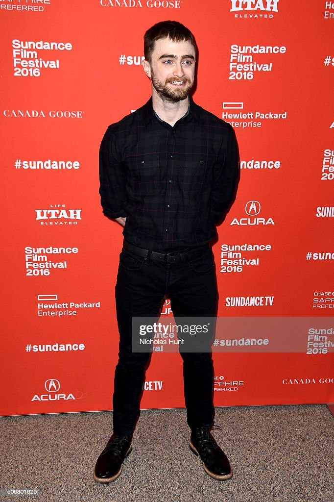 Actor <a gi-track='captionPersonalityLinkClicked' href=/galleries/search?phrase=Daniel+Radcliffe&family=editorial&specificpeople=204144 ng-click='$event.stopPropagation()'>Daniel Radcliffe</a> attends the 'Swiss Army Man' Premiere during the 2016 Sundance Film Festival at Eccles Center Theatre on January 22, 2016 in Park City, Utah.