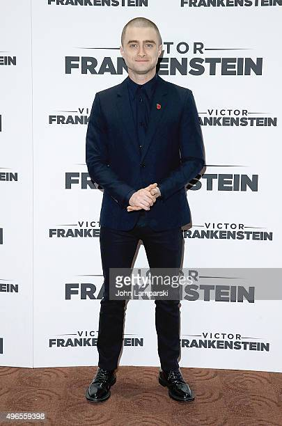 Actor Daniel Radcliffe attends 'Victor Frankenstein ' New York premiere at Chelsea Bow Tie Cinemas on November 10 2015 in New York City