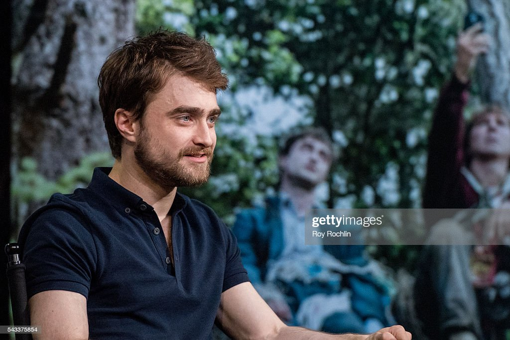 Actor Daniel Radcliffe discusses his new film 'Swiss Army Man' with AOL Build at AOL Studios In New York on June 27, 2016 in New York City.