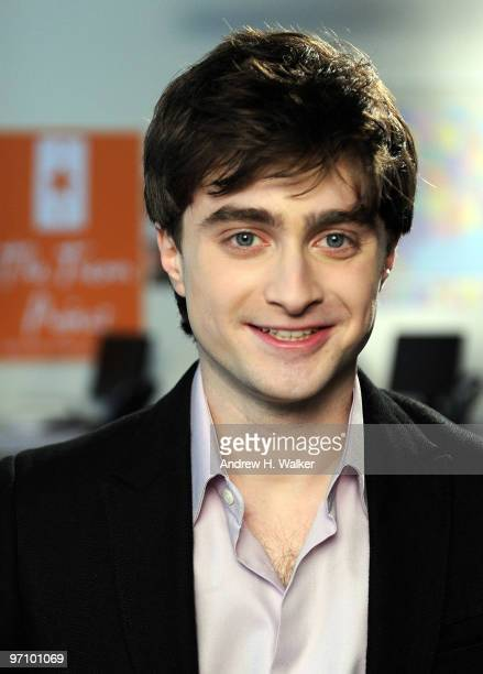 Actor Daniel Radcliffe visits Trevor Project's eastcoast call center on February 26 2010 in New York City