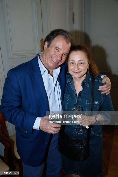 Actor Daniel Russo and Moliere awarded actress Catherine Arditi attend the 'Caisse d'Epargne IleDeFrance' supports the Ceremony of the Molieres 2017...