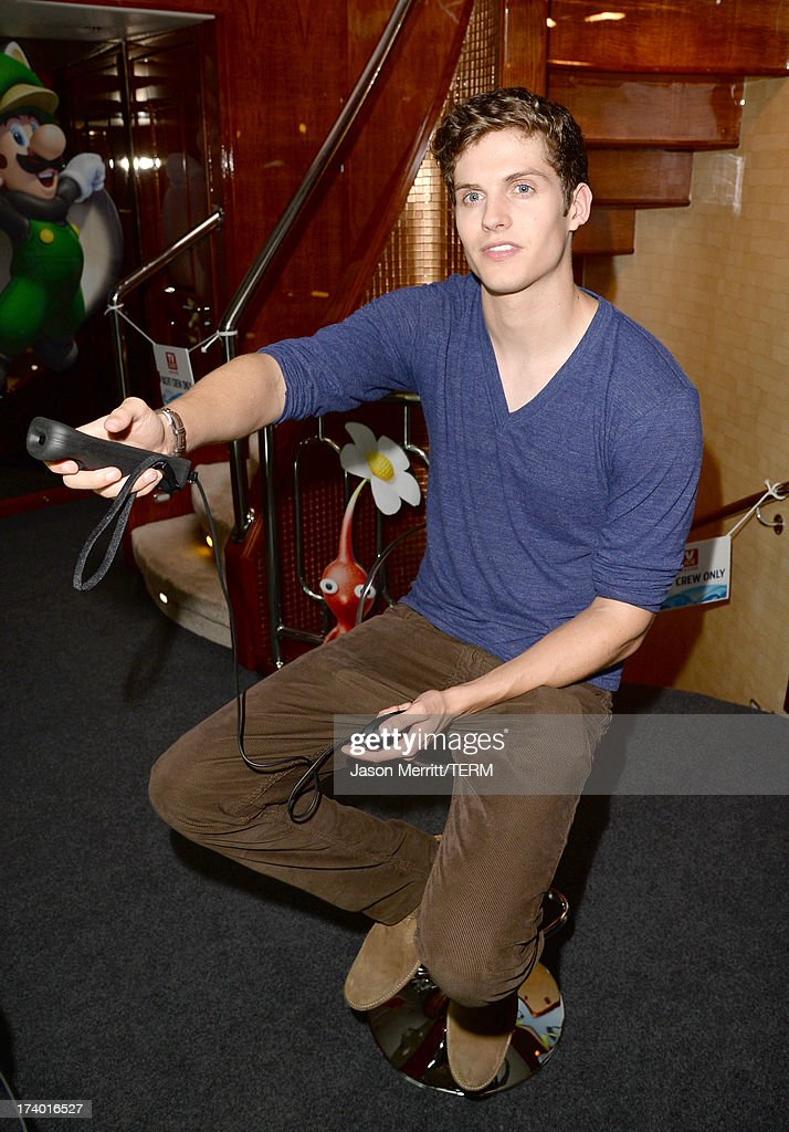 Actor <a gi-track='captionPersonalityLinkClicked' href=/galleries/search?phrase=Daniel+Sharman&family=editorial&specificpeople=6844190 ng-click='$event.stopPropagation()'>Daniel Sharman</a> attends the Nintendo Oasis on the TV Guide Magazine Yacht at Comic-Con day 1 on July 18, 2013 in San Diego, California.