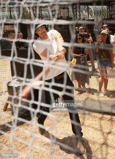Actor Daniel Sharman in the batting cages at the 'Fear the Walking Dead' Autograph Signing for AMC At Comic Con 2017 Day 3 on July 22 2017 in San...