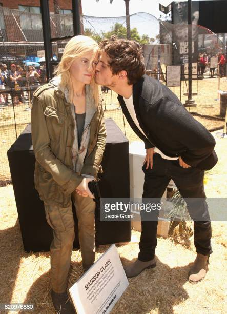 Actor Daniel Sharman poses with a character replica at the 'Fear the Walking Dead' Autograph Signing for AMC At Comic Con 2017 Day 3 on July 22 2017...